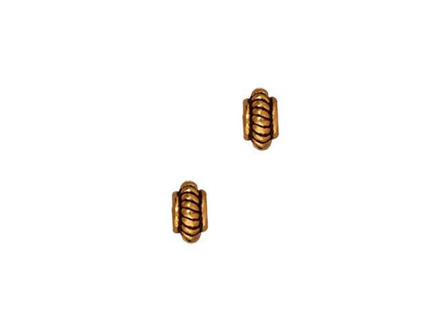 22K Gold Plated Pewter Coil Edge Spacer Beads 5mm (10)