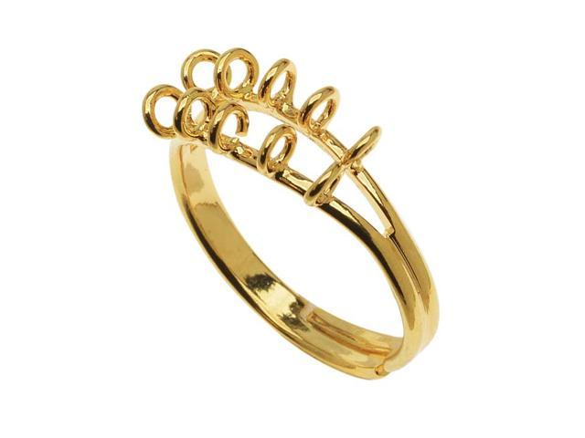 22K Gold Plated Ten-Loop Beading Rings Adjustable (4)