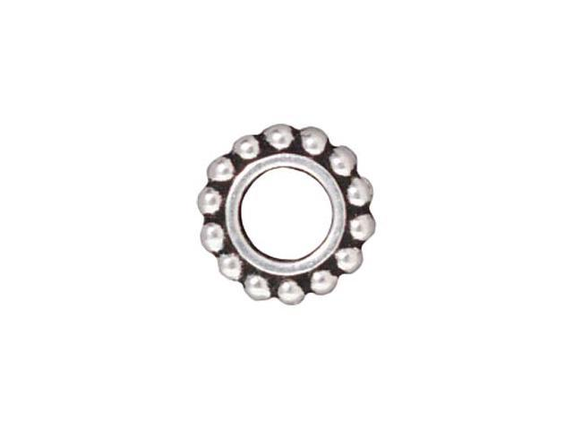 Silver Plated Pewter Round 8.5mm Bead Frame Fits SWAROVSKI ELEMENTS (4)