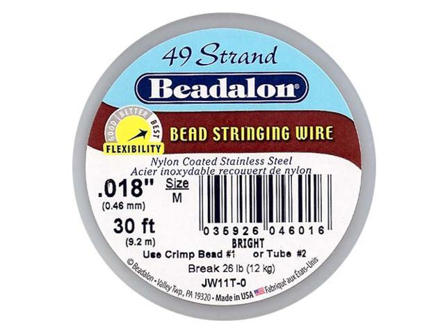Beadalon Wire Standard Bright 49 Strand .018 In./ 30Ft