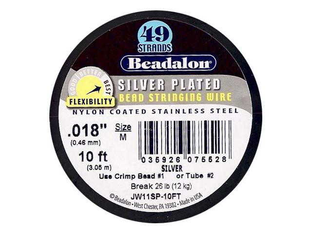 Beadalon Wire Silver Plated 49 Strand .018 In./ 10Ft