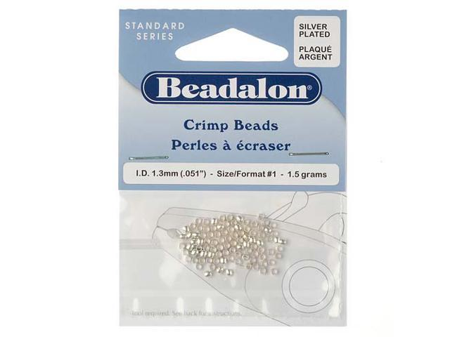 Beadalon Silver Plated Crimp Beads 1.3mm (95 Beads)