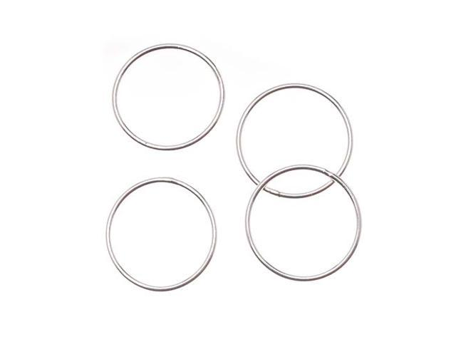 Sterling Silver Closed 17mm Jump Rings 18 Gauge (4 Pieces)