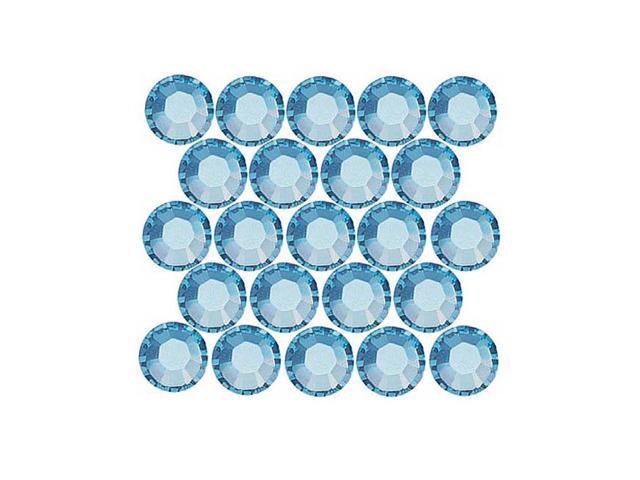 Swarovski Crystal, Round Flatback Rhinestone Hotfix SS12 3mm, 50 Pcs, Aquamarine
