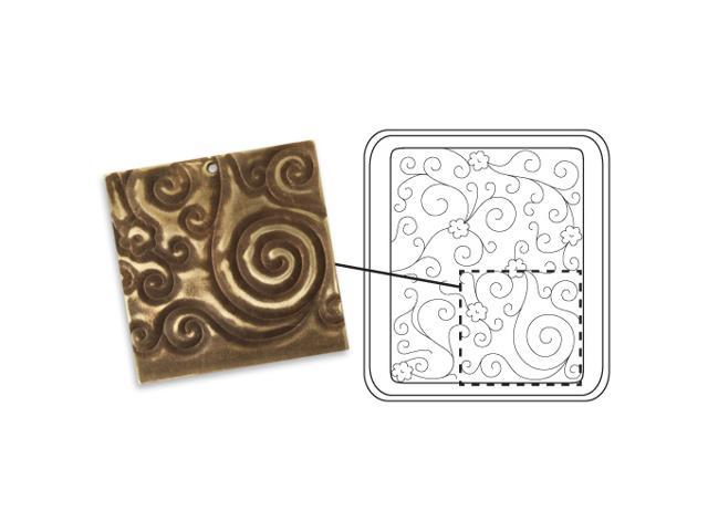 Vintaj DecoEtch Die For Sizzix Bigkick Machine - Daisy Swirl