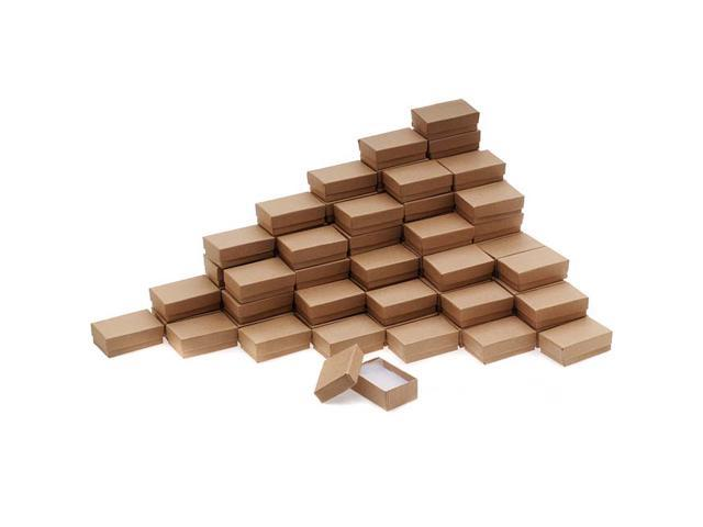 Kraft Brown Cardboard Jewelry Boxes 2.5 x 1.5 x 1 Inches (100)