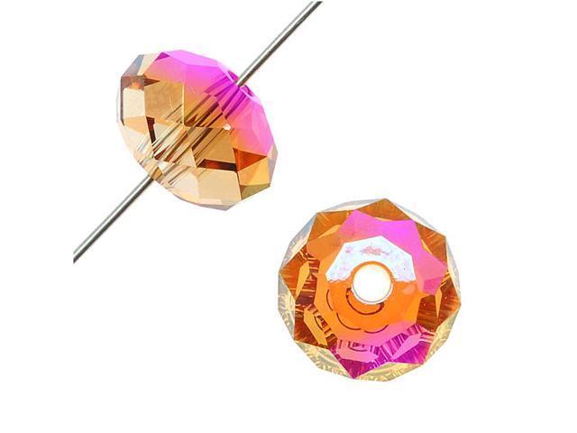 Swarovski Crystal, #5041 Large Hl Rondelle Bds 12mm, 2 Pcs, Crystal Astral Pink
