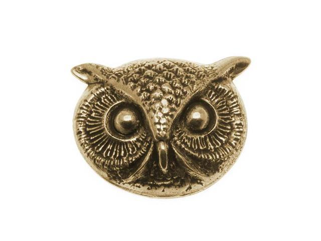 Antiqued Brass Owl Face Stamping 24.5x20mm (1)
