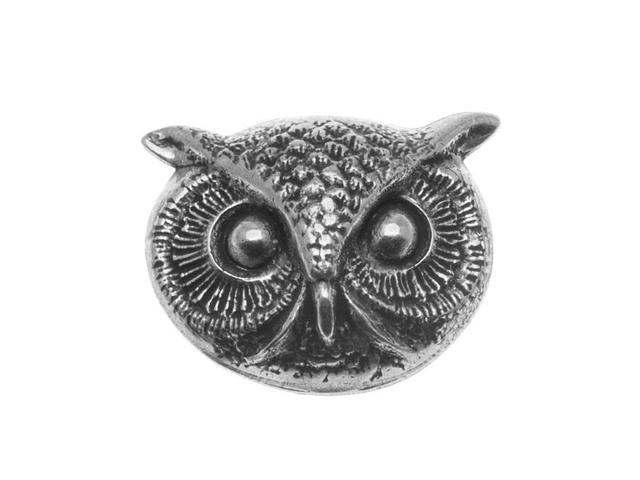 Antiqued Silver Plated Owl Face Stamping 24.5x20mm (1)