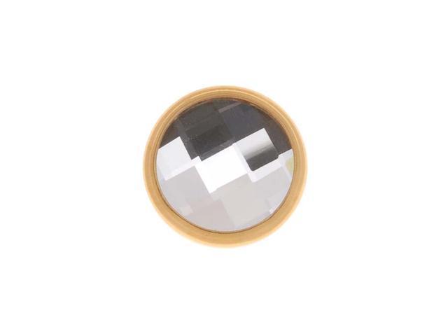 SWAROVSKI ELEMENTS Gold Plated Chessboard Crystal Decorative Button 11mm (1 Set)
