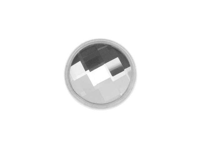 SWAROVSKI ELEMENTS Silver Plated Chessboard Crystal Decorative Button 11mm (1)