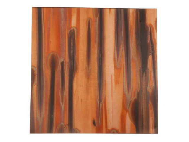 Lillypilly Copper Sheet Metal Square Enchantment Patina 36 Gauge - 3x3 Inch