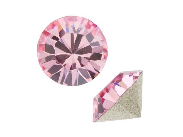 Swarovski Crystal, #1028 Xilion Round Stone Chatons pp10, 50 Pieces, Lt Rose