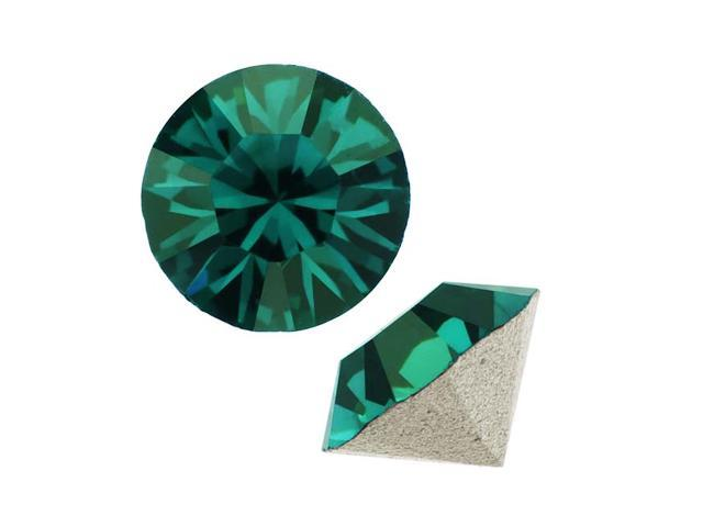 Swarovski Crystal, #1028 Xilion Round Stone Chatons pp10, 50 Pieces, Emerald