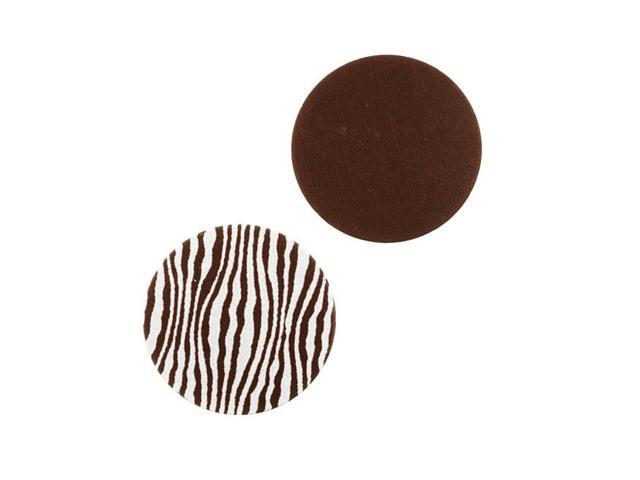Lillypilly Aluminum Circle Stamping Brown W/ Zebra Print 19mm (2)