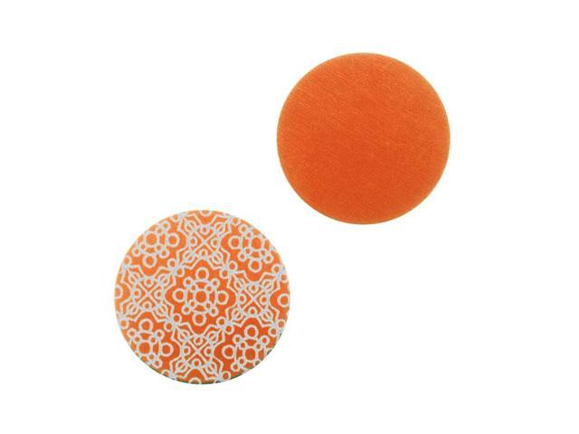 Lillypilly Aluminum Circle Stamping Orange W/Spanish Tile Pattern 19mm (2)