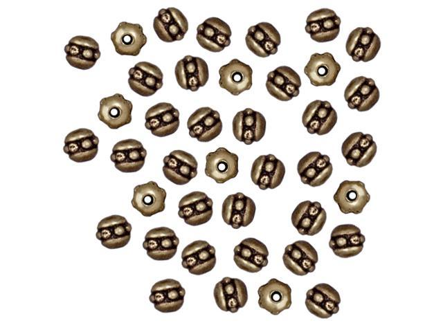 Brass Oxide Finish Pewter Beaded Spacer Beads 3x3mm (50)