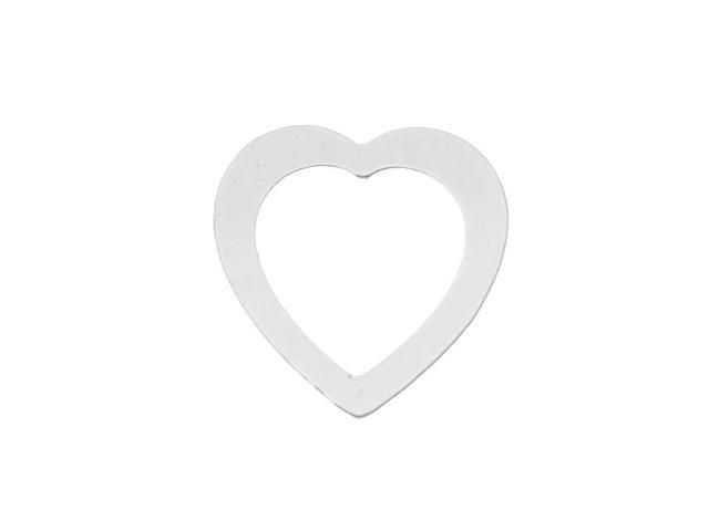 Silver Filled Blank Stamping 'Large Open Heart' 30 x 29mm (1)