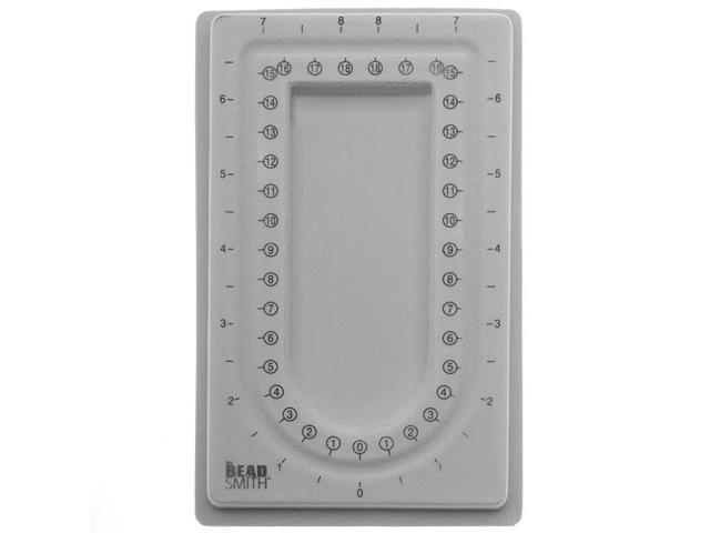 BeadSmith Mini Bead Board Gray Flock - 4 x 6.75 Inch