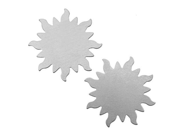 Silver Color Nickel Alloy Dancing Sun Stamping Blanks - 32.5mm 24 Gauge (2)