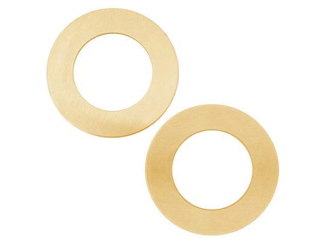 Solid Brass Open Circle Blanks - 31.5mm Diameter 24 Gauge (2)