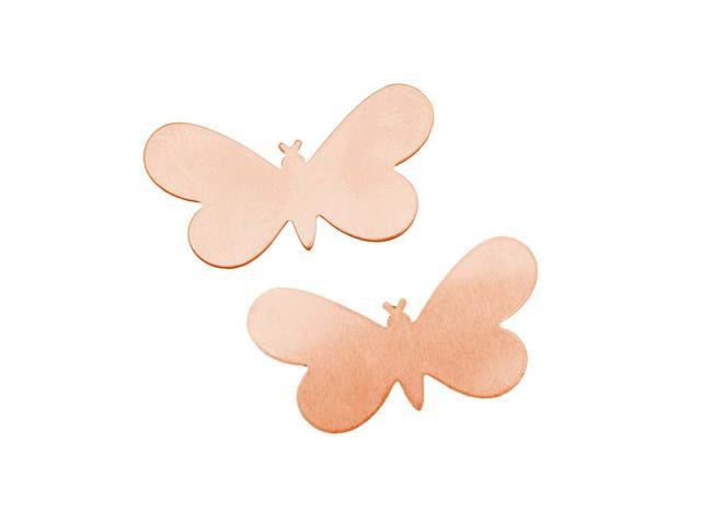 Solid Copper Fairy Butterfly Stamping Blank - 33x18mm 24 Gauge (2)