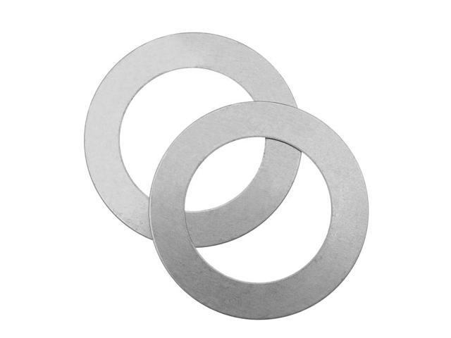 Silver Color Nickel Alloy Large Open Circle Blanks - 38mm Diameter 24 Gauge (2)