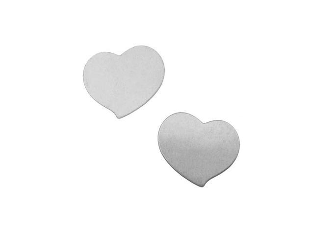 Silver Color Nickel Alloy Whimsical Heart Blanks - 20.5x17.5mm 24 Gauge (2)