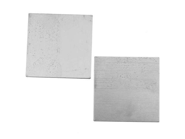 Silver Color Nickel Alloy Square Stamping Blanks - 28.7mm 24 Gauge Thick (2)