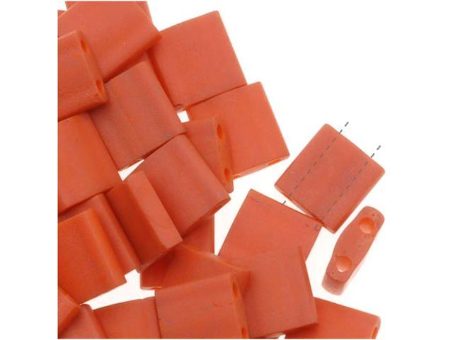 Miyuki Tila 2 Hole Square Beads 5mm 'Burnt Sienna' 7.2 Grams