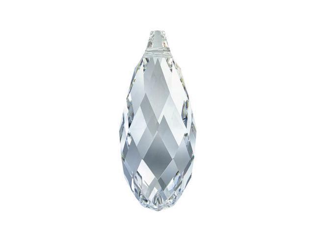 Swarovski Crystal, #6010 Briolette Pendants 11x5.5mm, 2 Pcs, Crystal Blue Shade