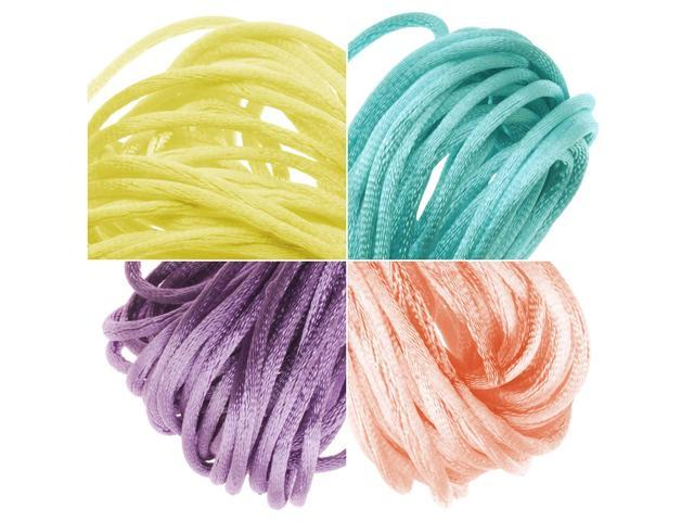 Satin Rattail Cord 1mm Easter Pastel Mix 4 Colors 6 Yd Ea