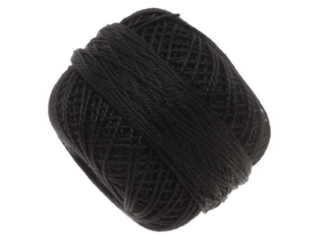Pearl Cotton Cord Size 8 - Black - 85 Yard Bobbin