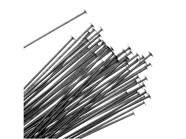 Gun Metal Head Pins 1.5 Inches 24 Gauge  (X50)