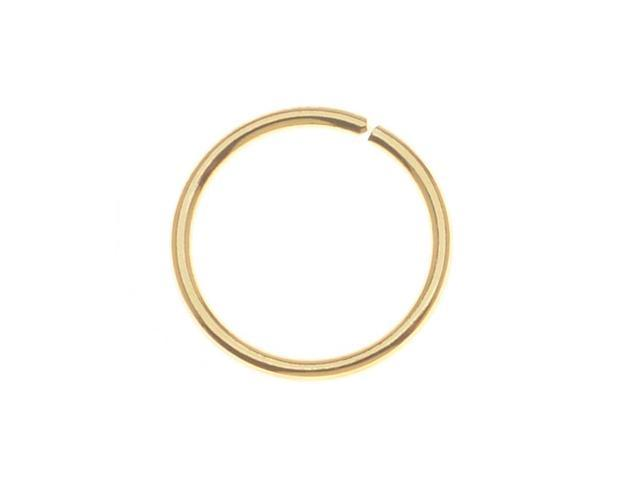 10mm Open Jump Rings 18 Gauge - Gold Plated (50 Pieces)