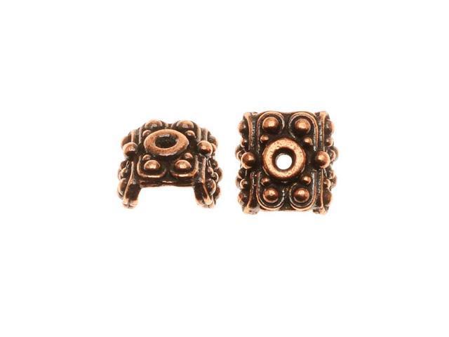 Copper Plated Pewter Raja Bead Pendant Caps 5.6mm (2)