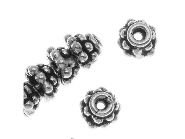Bali Sterling Silver Double Daisy Beadcaps 4.5X3mm (10)