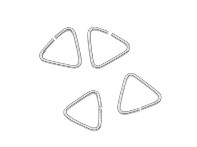 Sterling Silver Xs Triangle Jump Rings Bails 5X5mm  (20)