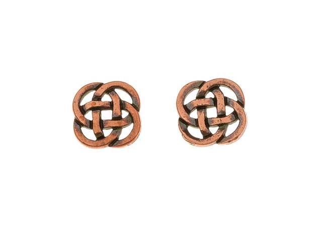 Real Copper Plated Pewter Celtic Knot Open Connector Beads 10mm (2)