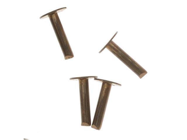 Vintaj Natural Brass 1/4 Inch Nail Head Rivets (20 Pieces)