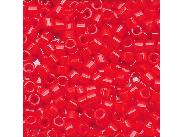 Miyuki Delica Seed Beads 11/0 Opaque Light Siam Red DB727 7.2 Grams