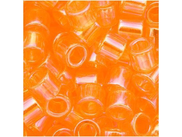 Delica Seed Bead 15/0 Transp. Tangerine AB Dbs151 4Gr