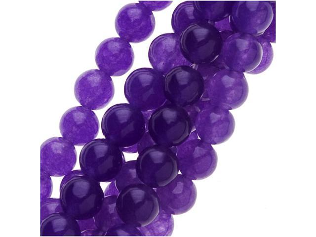 Purple Grape Candy Jade 4mm Round Beads / 15.5 Inches