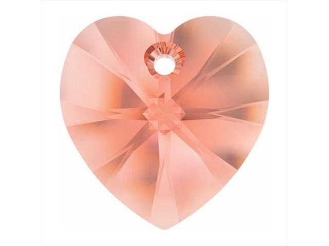 Swarovski Crystal, #6228 Heart Pendant 18mm, 1 Piece, Rose Peach