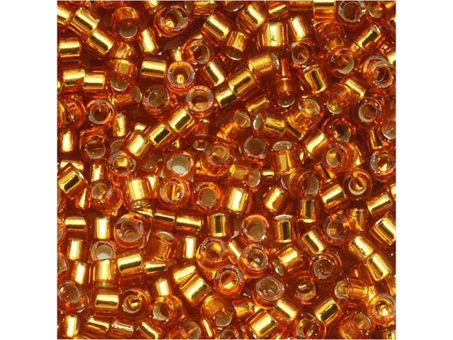 Miyuki Delica Seed Beads 11/0 Silver Lined Marigold DB1201 7.2 Grams