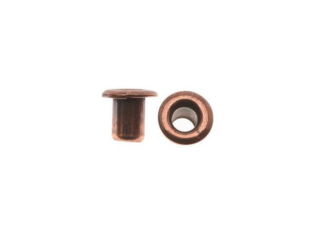 Antiqued Copper Plated Brass Hollow Eyelets 3.7mm Diameter - 10 Pieces