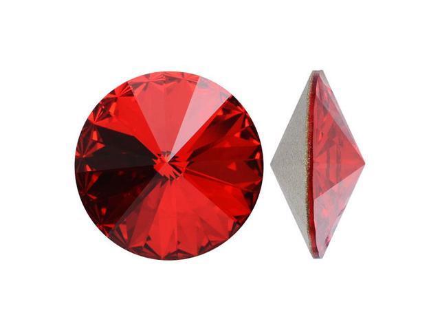 Swarovski Crystal, #1122 Rivoli Fancy Stones 14mm, 2 Pieces, Light Siam Sf