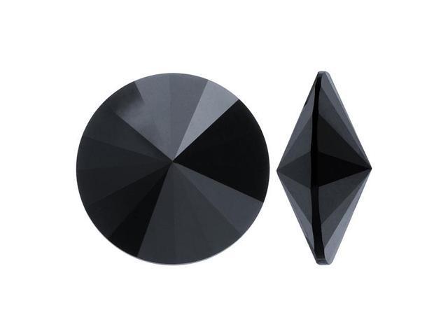 Swarovski Crystal, #1122 Rivoli Fancy Stones 14mm, 2 Pieces, Jet Unf