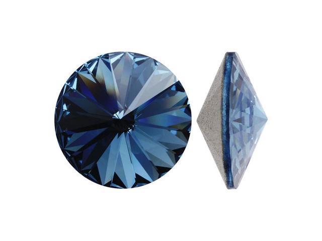 Swarovski Crystal, #1122 Rivoli Fancy Stones 14mm, 2 Pieces, Denim Blue F