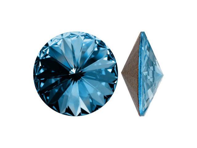 Swarovski Crystal, #1122 Rivoli Fancy Stones 14mm, 2 Pieces, Aquamarine Sf